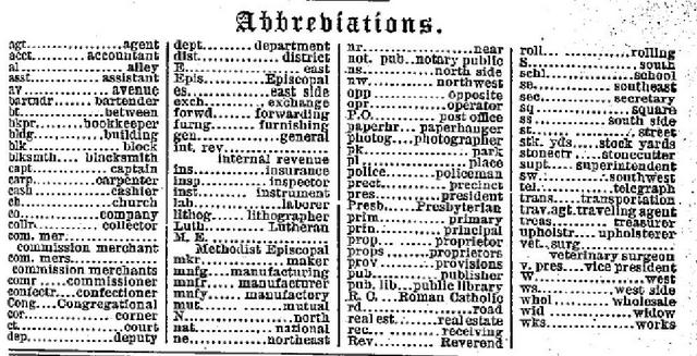 1880 abbreviations