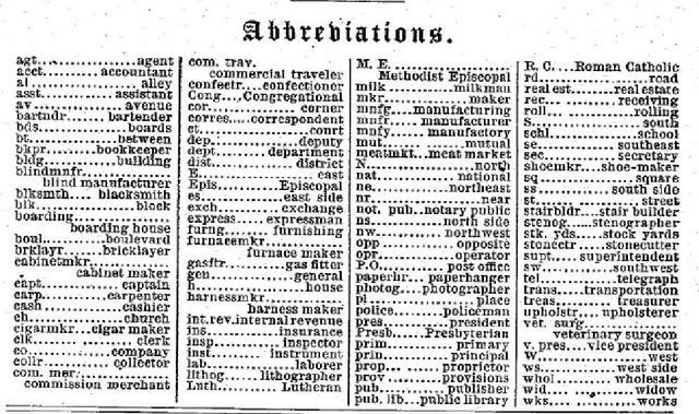 1885 abbreviations